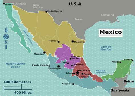 regional map of mexico mexico regions map mapsof net