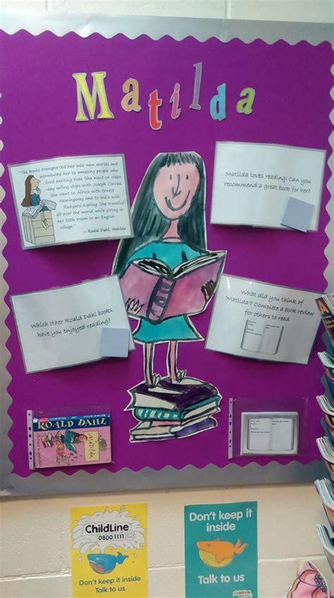 story themes ks2 library display based on matilda by roald dahl aimed at