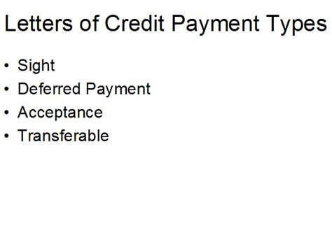 Letter Of Credit Course Letters Of Credit Payment Types Free Course In International Business