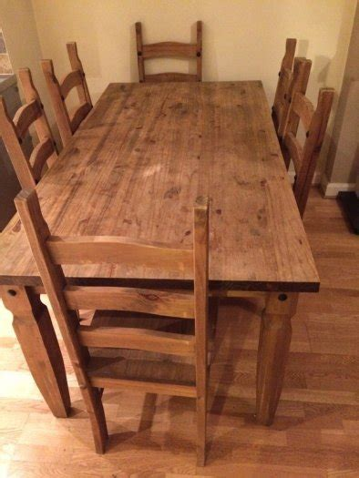 Mexican Dining Table And Chairs Mexican Pine Dining Setbookcasenest Tables For Sale In Clonsilla Dublin From Cariosa