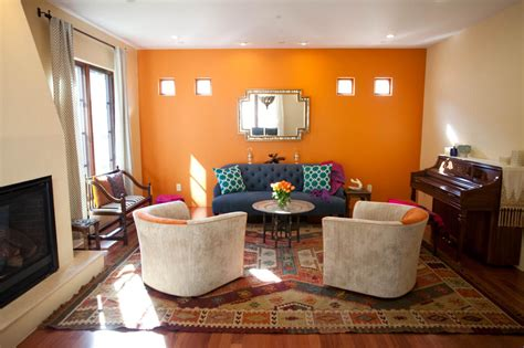 blue mood paint color sunrise bright living room mood 18 absolutely stunning interior designs with bold accent wall