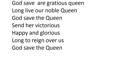 full version god save queen lyrics god save the queen lyric youtube