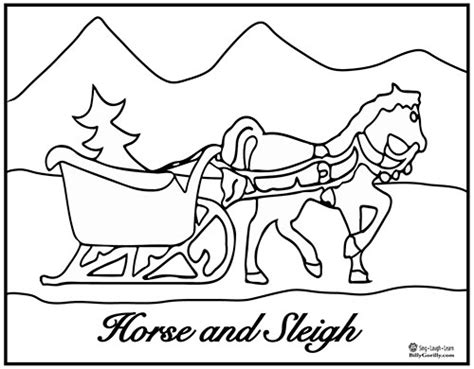 coloring page one open sleigh sing laugh learn early childhood education songs