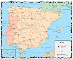Spain Map With Cities by Gallery For Gt Spain Map Major Cities