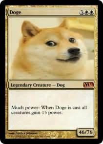 doge magic card doge meme