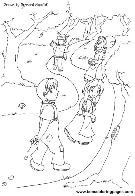 free coloring pages of hansel and gretel