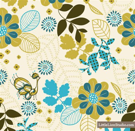 seamless floral pattern background vector graphic peacock vanity vector seamless floral pattern download