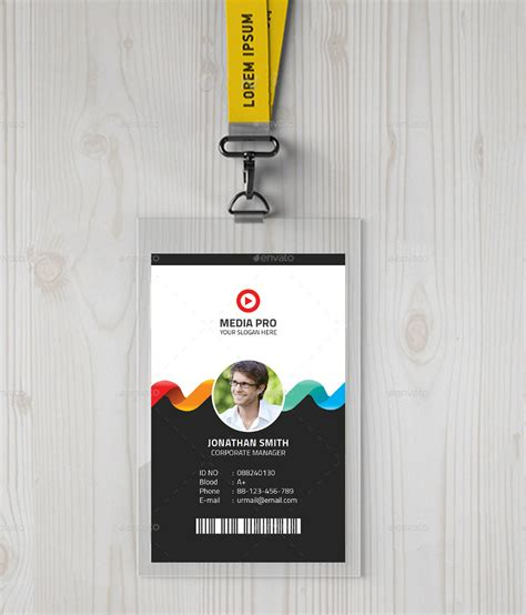 %name business card design cost   11  Creative ID Card Designs   Free & Premium Templates