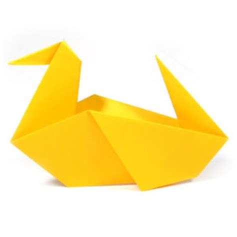 Paper Duck Origami - how to make a traditional origami duck page 8