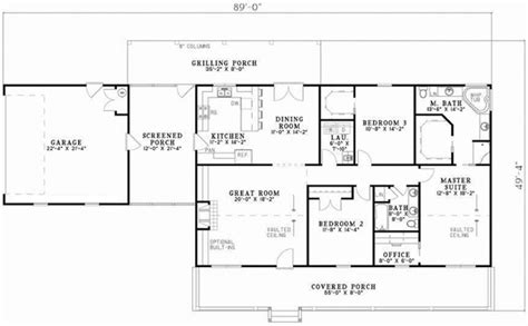 1800 Sq Ft Ranch House Plans Country Style House Plans 1800 Square Foot Home 1 Story 3 Bedroom And 2 3 Bath 2 Garage