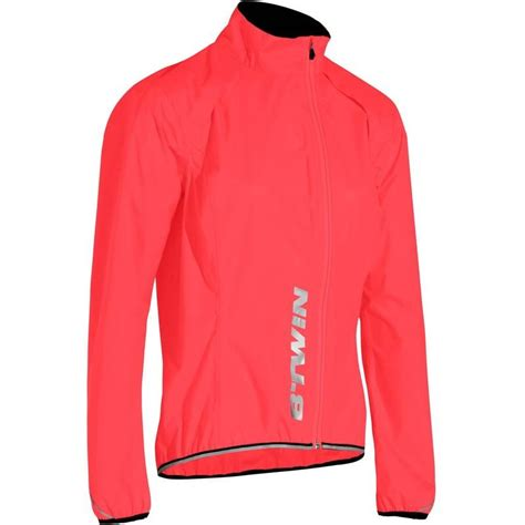 pack away cycling jacket 500 s waterproof cycling jacket pink decathlon