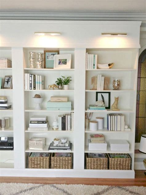 how to decorate built in shelves built in bookcases using ikea shelves built in bookcases