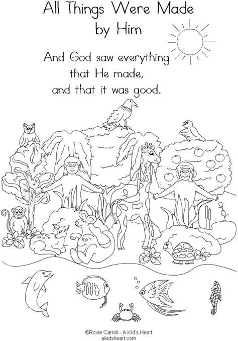 coloring pages creation earth 170 best images about sunday school coloring pages on
