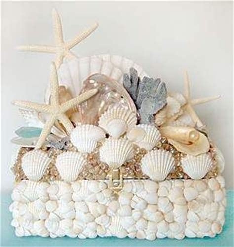 How To Decorate A Mirror With Shells by Charm Seashell Decorated Box Shell Decor