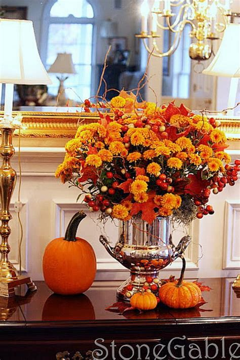 decorating fall 55 cool fall flower centerpiece and flower table d 233 cor