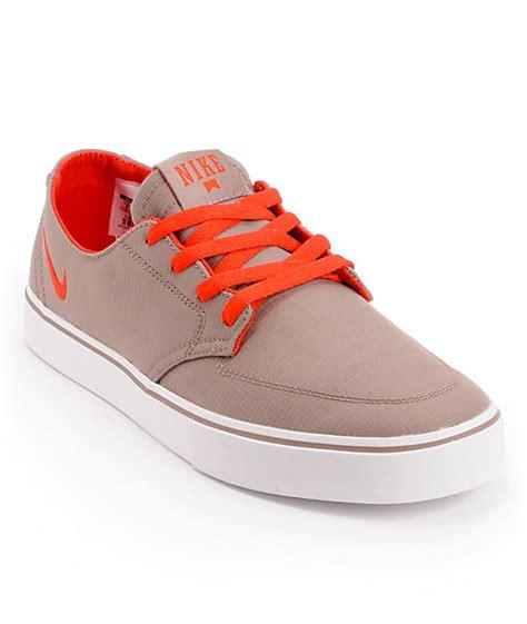nike sb braata lr taupe canvas skate shoes