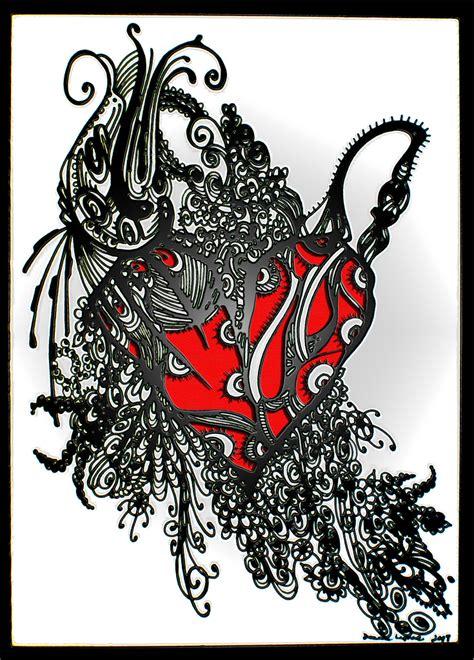 tribal love tattoo tribal heart tattoo doodle doodler blog