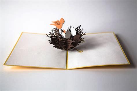 Paper Bird Sculpture my friends design crazily detailed cards that pop up with