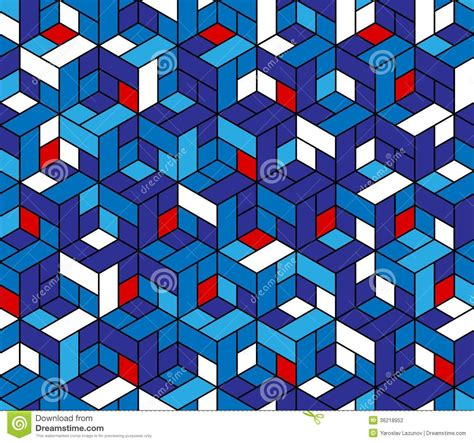 geometric pattern photography seamless geometric pattern with cubes stock photography