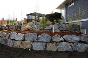 rock retaining wall retaining walls and rocks on pinterest