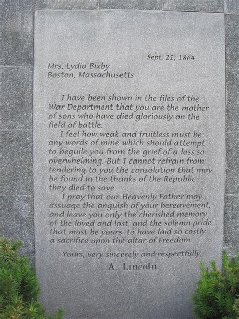 letter from abraham lincoln to mrs bixby lincoln s letter to mrs bixby obelisk provo ut