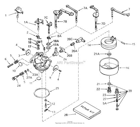 snowblower carburetor diagram tecumseh ca 631835 parts diagram for carburetor