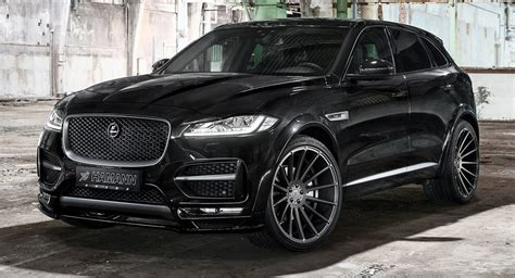jaguar f pace black hamann s jaguar f pace distills refined aggression