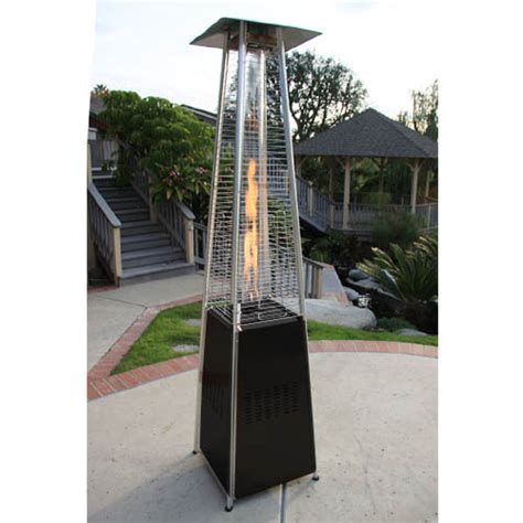 Garden Radiance Stainless Steel Pyramid Outdoor Patio Pyramid Patio Heater