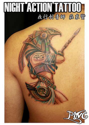 horus tattoo horus 埃及守護神 霍爾斯 刺青 flickr photo