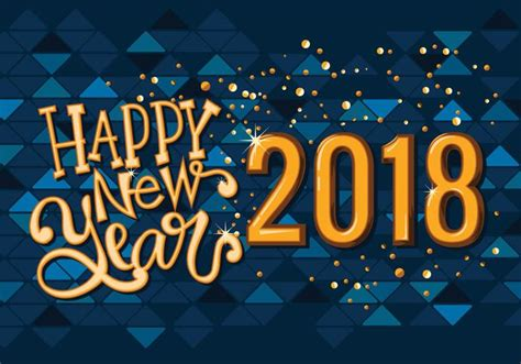 new year 2018 vector happy new 2018 year greeting card vector free