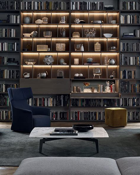 wall library bookcases poliform wall system news 2015