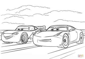 Mcqueen Ramirez Cars 3 Coloring Free Printable Coloring Pages