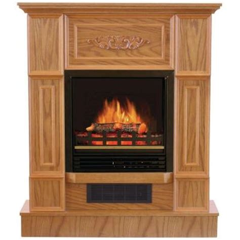quality craft 32 in electric fireplace in oak mm624