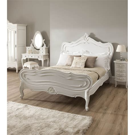 La Rochelle Antique French Style Bed Carved Mahogany La Rochelle Bedroom Furniture