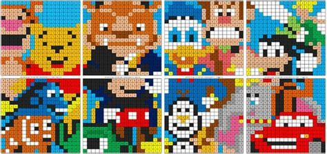 disney color  number coloring squared
