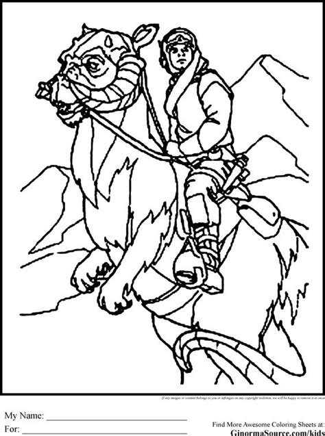 Wars Coloring Pages Tauntaun On Hoth Coloring Pages