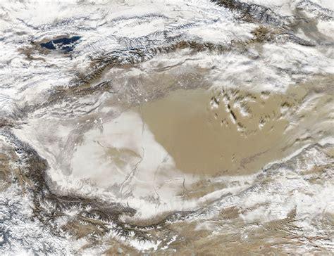 snow in desert snow covered desert nasa