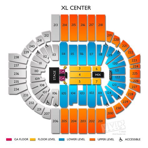 xl center seating chart with seat numbers tickets xl center hartford ct 6 22 ebay
