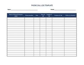 phone log template 40 printable call log templates in microsoft word and excel