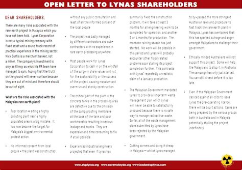 up open letter save malaysia stop lynas 2011