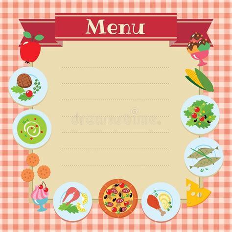 Blank Cafe Menu Template Printable Menu And Chart Menu Template Free