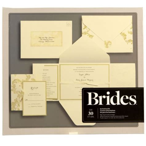 brides printable wedding invitation kits this kit helps you save time by making the invitations