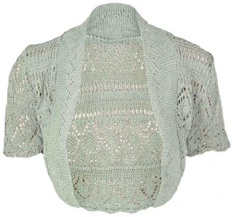 shrug knitting patterns uk new knitted bolero shrug womens top size 8 14 ebay