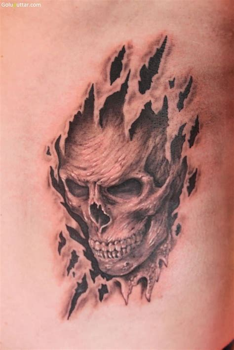 skin tattoos 3d ripped skin tattoos