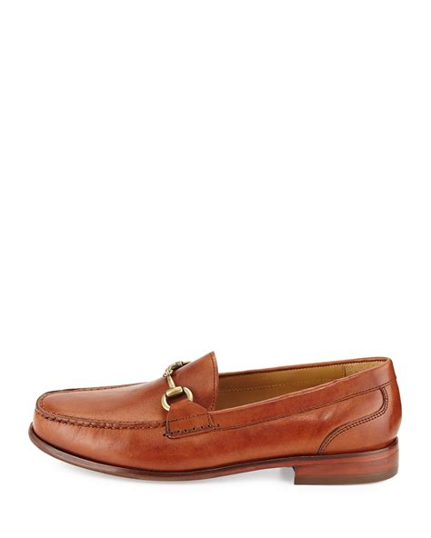 cole haan leather loafers cole haan fairmont horsebit leather loafer in brown for