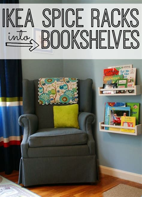 Ikea Spice Rack Turned Into Bookshelves For Kids Spice Racks For Bookshelves