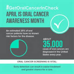 Get oral cancer in check april is oral cancer awareness month