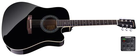 Guitar Black zad50ce solid spruce mahogany acoustic electric black