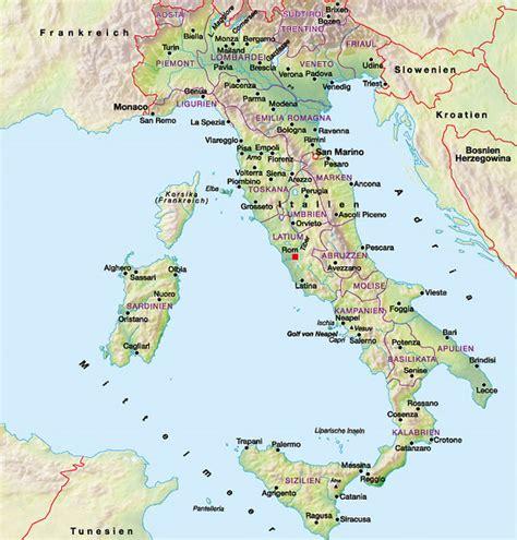 Karte Deutschland Italien by Landkarte Italien Weltkarte L 228 Nder
