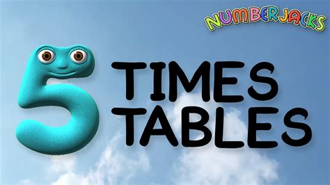 table 2 song 5 times tables song numberjacks